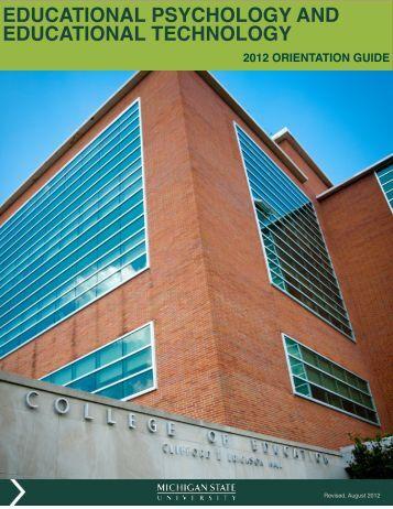 educational psychology and educational technology - MSU ...