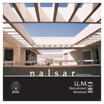 LL.M Recruitment Brochure.pdf - NALSAR University of Law