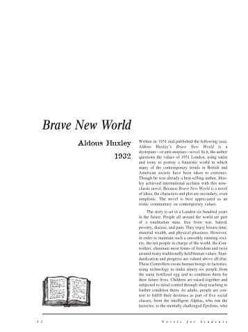 """brave new world psychology aspect I would be focusing on aspects of """"shallowness of hedonism and pursuit of true   brave new world presents a dystopian society where the omnipotent state has   prevents the general population from ever reaching psychological maturity."""