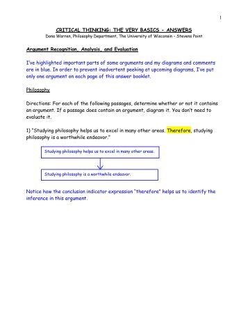 critical thinking quiz and answers Free logical reasoning questions and answers with tests for practice online logical reasoning questions for also known as critical thinking or.