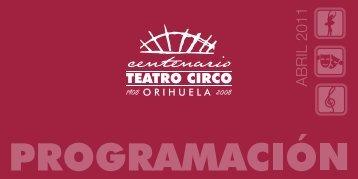 Programacion Abril 2011 - Ayuntamiento de Orihuela