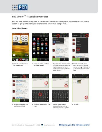 HTC One V – Social Networking - US Cellular