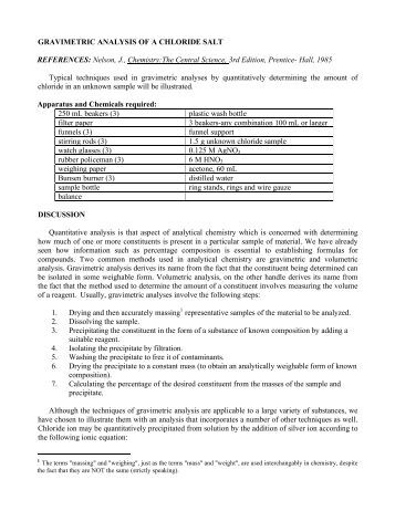 gravimetric determination of sulfate essay
