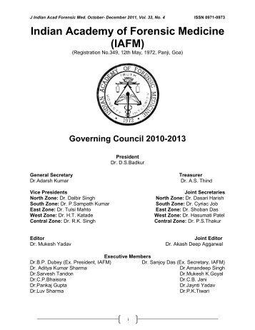JIAFM-33-4, October-December, 2011 [PDF] - forensic medicine
