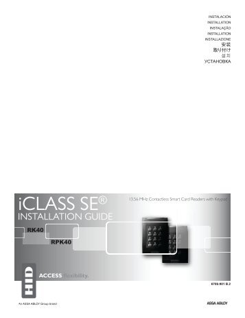 iCLASS Keypad Installation Guide - HID Global