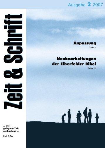 Heft 2/2007 - Zeit & Schrift