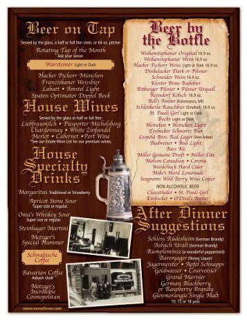 Johnny V S Classic Cafe Menu