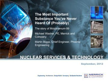 NUCLEAR SERVICES & TECHNOLOGY The ... - Merrick & Company
