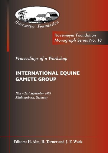 Proceedings of a Workshop INTERNATIONAL EQUINE GAMETE ...
