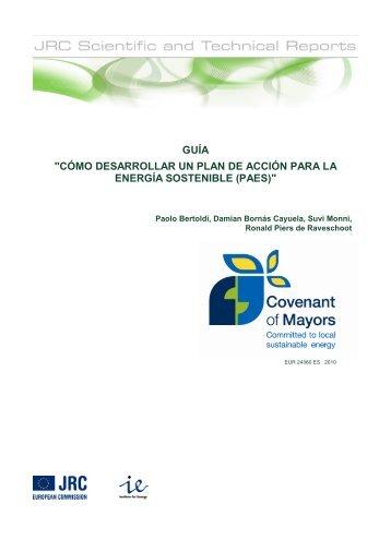"""guía """"cómo desarrollar un plan de acción para la energía sostenible"""