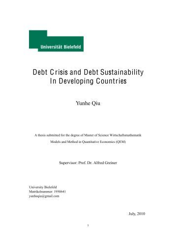 debt sustainability in developing countries External debt sustainability and development  the general assembly,  exceed the stock of total debt for developing countries as a whole.
