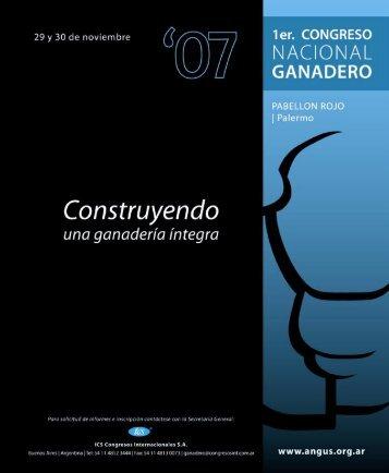 Congreso Nacional Ganadero 2007 - Asociación Argentina de Angus