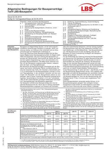 Lbs Bausparen Tarife : allgemeine bedingungen f r bausparvertr ge tarife classic ~ Lizthompson.info Haus und Dekorationen