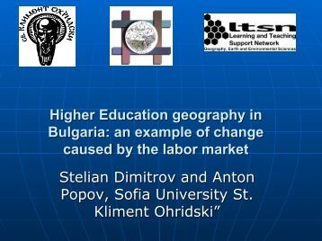 Higher Education geography in Bulgaria: an example of change ...