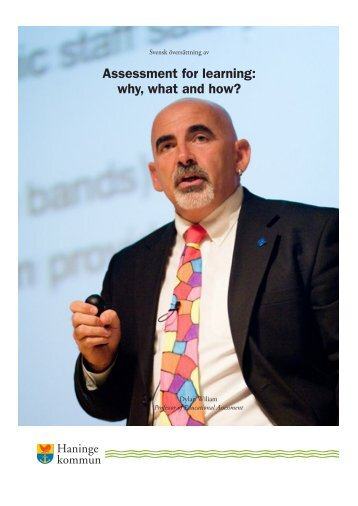 Assessment for learning, why, what and how (Haninge Kommun 2014)