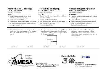 Mathematics Challenge Wiskunde-uitdaging Umceli ... - AMESA