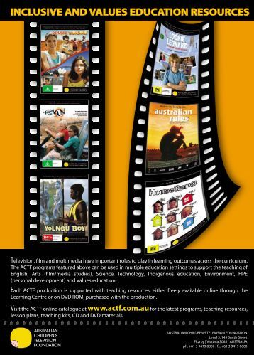 inclusive and values education resources - Metro Magazine