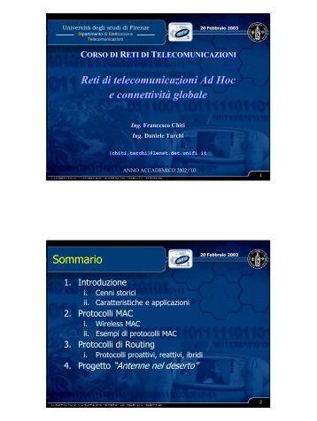 Seminario Ad Hoc networks - lenst - Università degli Studi di Firenze