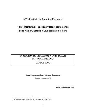 """Carlos Sojo, """"La noción de ciudadanía en el debate ... - Cholonautas"""