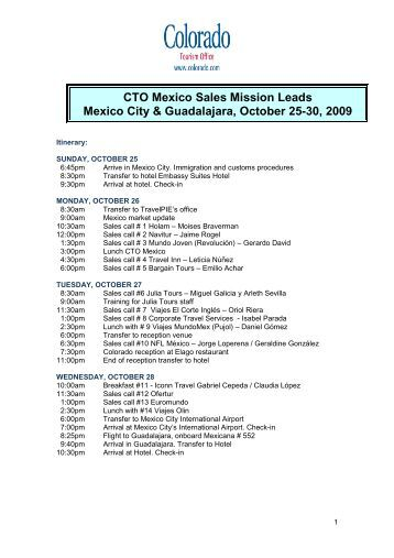 CTO - Oct 09 Mexico Sales Mission - Leads REV 2