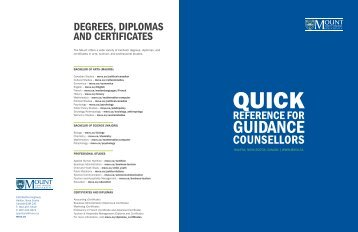 Degrees, Diplomas AnD Certificates - Mount Saint Vincent University