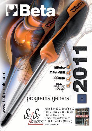 Catalogo de Herramientas Beta Tools - SEYSU Hidraulica SL