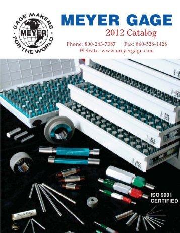 2012 Catalog - Meyer Gage Company
