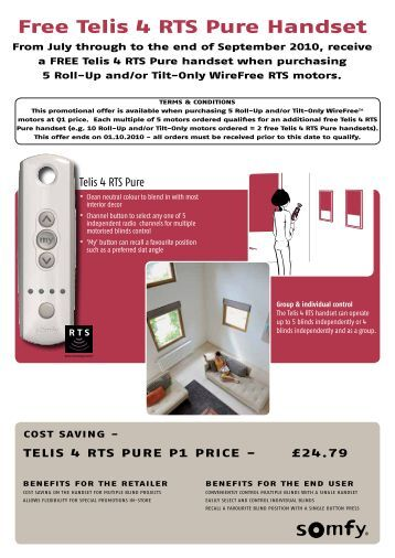 somfy awning remote control instructions