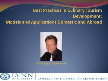 Culinary tourism - Cultural Heritage Tourism Alliance