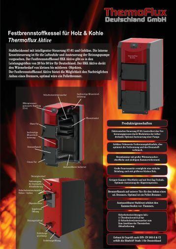 Festbrennstoffkessel HKK Aktive - Thermoflux Deutschland GmbH