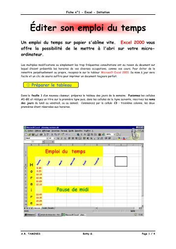 Excel - exercice 1