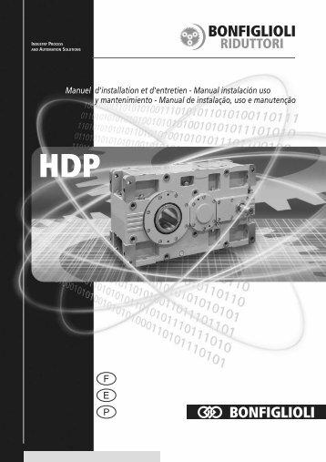 Manuel d'installation et d'entretien - Manual instalación ... - Bonfiglioli