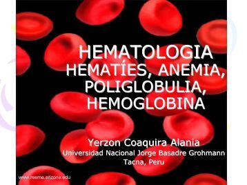 Laboratorio Hematológico - Reeme.arizona.edu