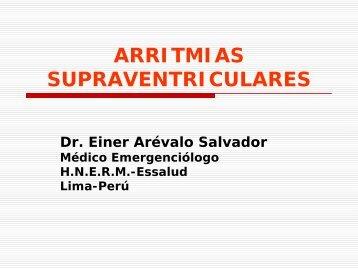 ARRITMIAS SUPRAVENTRICULARES - Reeme.arizona.edu