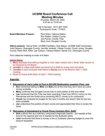 conference call agenda template