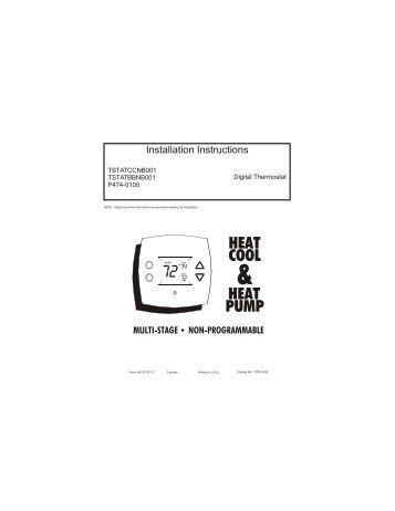 P374-2700 Heat & Cool Heat Pump Non-Programmable
