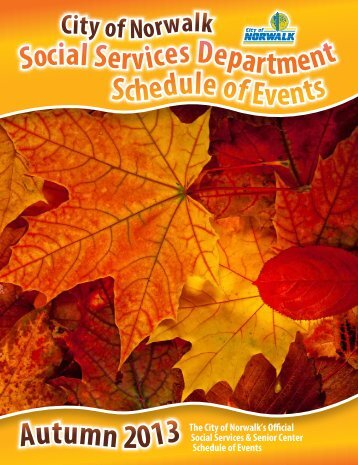 2013_Fall Social Services Schedule - City of Norwalk