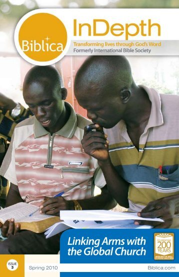 Issue 3 - 2010 - Linking Arms with the Global Church - Biblica