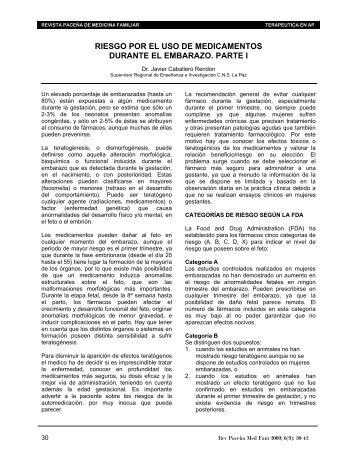 RIESGO POR EL USO DE MEDICAMENTOS - Mflapaz.com