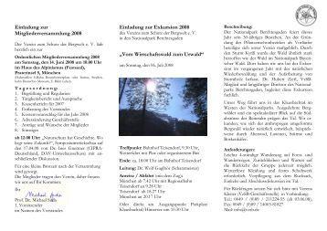 Einladung zur Mitgliederversammlung 2008 Einladung zur ...