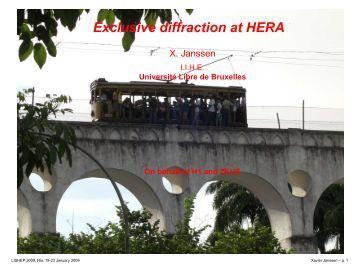 Exclusive diffraction at HERA - Zeus