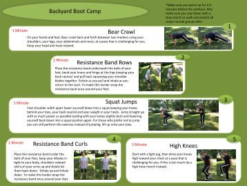 Backyard Bootcamp Workout