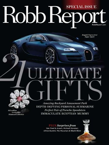 Robb Report 12-10 - Aquos Yachts