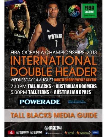 2013 Tall Blacks Media Guide - Basketball New Zealand