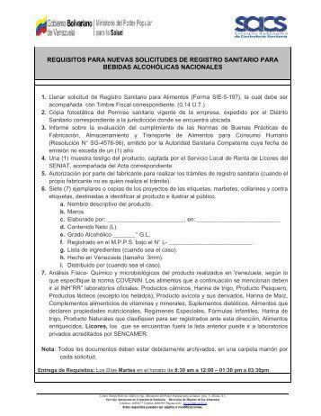 Registro Sanitario para Bebidas Alcohólicas Nacionales - Servicio ...
