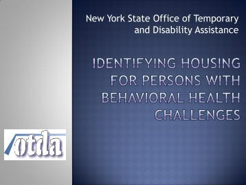 Identifying Housing for Persons with Behavioral Health Challenges