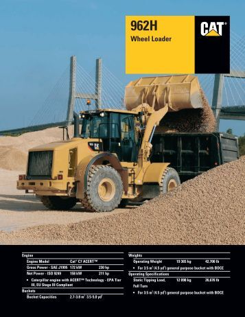 Specalog for 962H Wheel Loader, AEHQ5676-01