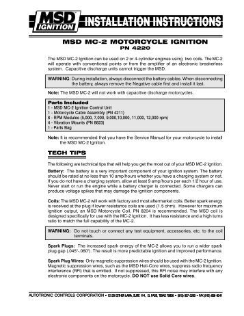 dyna iii electronic ignition installation instructions