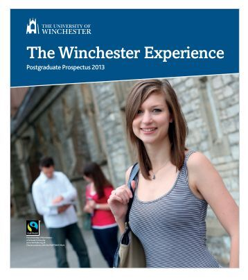 Postgraduate Prospectus 2013 - University of Winchester