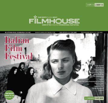 05 Apr - 02 May - Filmhouse Cinema Edinburgh